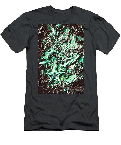 Tropical Bay Elements Men's T-Shirt (Athletic Fit)