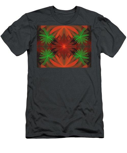 Tropical Flowers Men's T-Shirt (Athletic Fit)