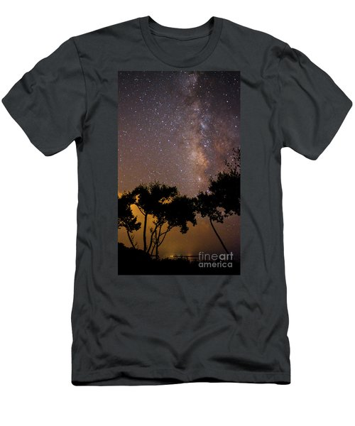 Tropical Milky Way Men's T-Shirt (Athletic Fit)