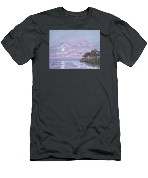 Men's T-Shirt (Slim Fit) featuring the painting Tropical Moonrise by Kathleen McDermott