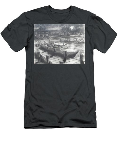 Tropical Moonrise Men's T-Shirt (Athletic Fit)
