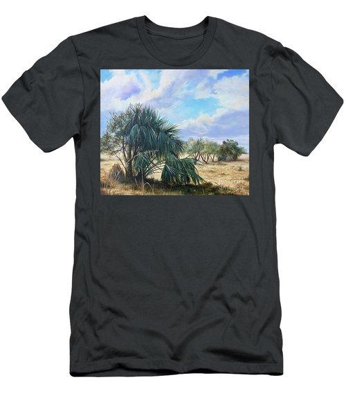 Tropical Orange Grove Men's T-Shirt (Slim Fit) by AnnaJo Vahle