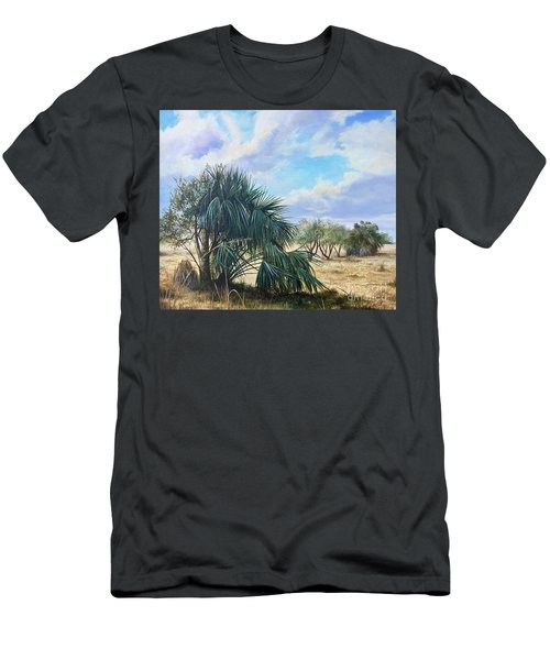 Tropical Orange Grove Men's T-Shirt (Athletic Fit)
