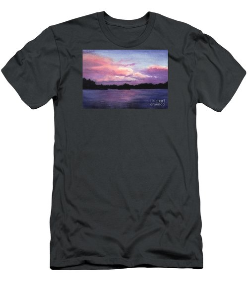 Trout Lake Sunset I Men's T-Shirt (Athletic Fit)