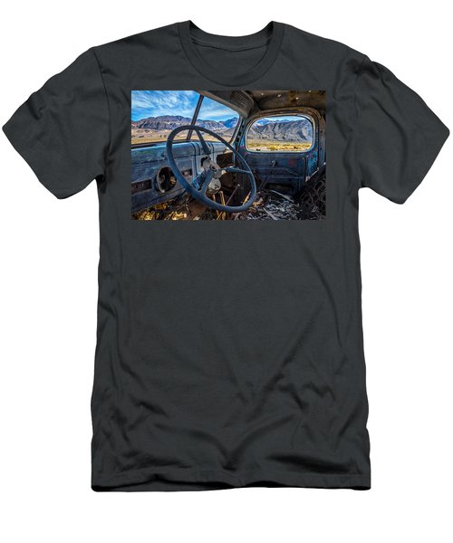 Truck Desert View Men's T-Shirt (Slim Fit) by Peter Tellone
