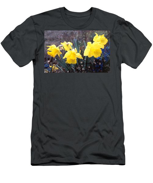 Trumpets Of Spring Men's T-Shirt (Slim Fit)