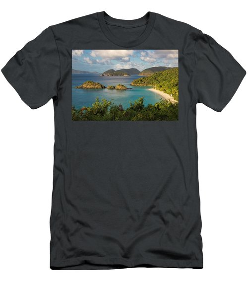 Men's T-Shirt (Slim Fit) featuring the photograph Trunk Bay Morning by Adam Romanowicz