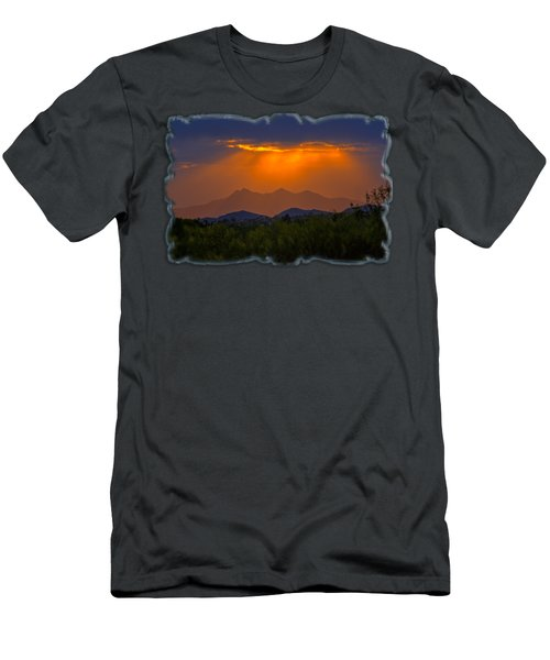 Tucson Mountains Sunset H29 Men's T-Shirt (Slim Fit) by Mark Myhaver