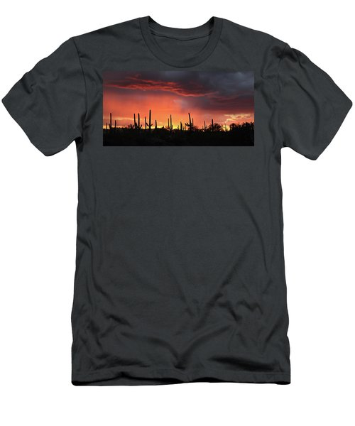 Tucson Sunset With Rain Men's T-Shirt (Athletic Fit)