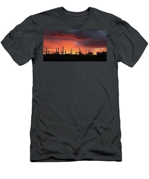 Tucson Sunset With Rain Men's T-Shirt (Athletic Fit)