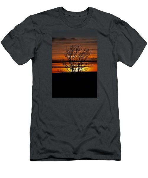 Men's T-Shirt (Slim Fit) featuring the photograph Tuesday Afternoon Sunset by Dacia Doroff