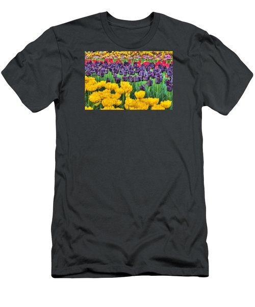 Tulip Colors Men's T-Shirt (Slim Fit) by Nadia Sanowar