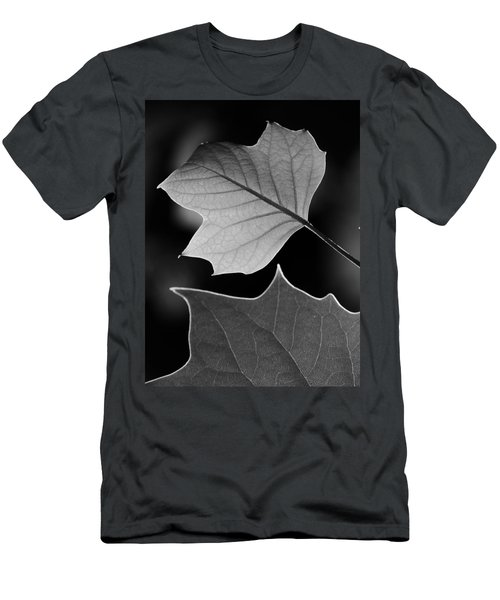 Tulip Tree Leaves Competing For Light Men's T-Shirt (Slim Fit) by Jane Ford