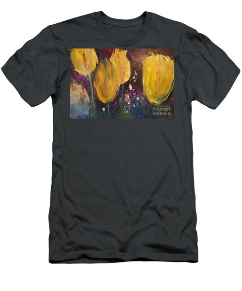 Tulips Men's T-Shirt (Slim Fit) by Gallery Messina