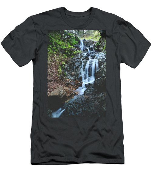 Men's T-Shirt (Slim Fit) featuring the photograph Tumbling Down by Laurie Search