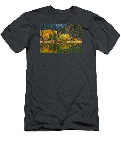 Tumwater Reflections Men's T-Shirt (Slim Fit) by Lynn Hopwood