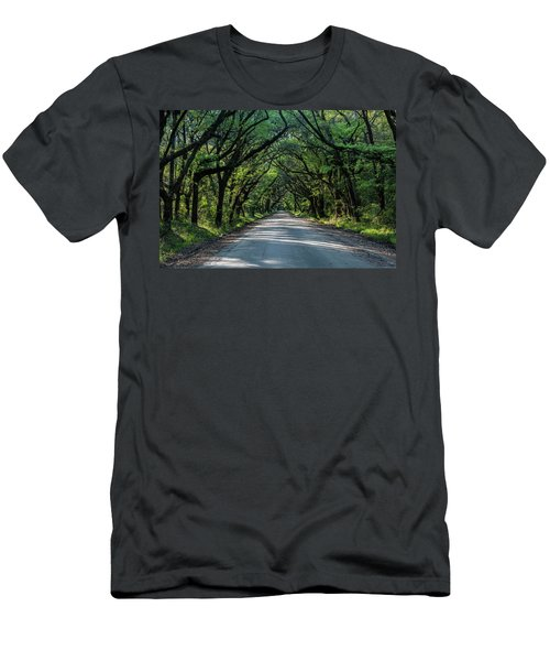 Men's T-Shirt (Slim Fit) featuring the photograph Tunnel On Botany Bay by Jon Glaser
