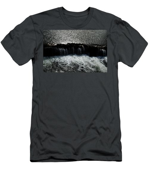 Men's T-Shirt (Athletic Fit) featuring the photograph Turbulent Water by W And F Kreations