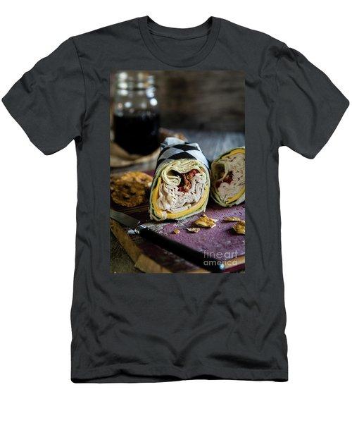 Turkey Bacon Wrap 1 Men's T-Shirt (Slim Fit) by Deborah Klubertanz