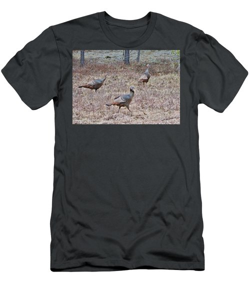 Men's T-Shirt (Slim Fit) featuring the photograph Turkey Trio 1153 by Michael Peychich