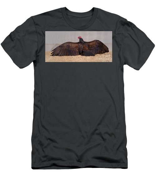 Turkey Vulture Spreading Wings Men's T-Shirt (Athletic Fit)