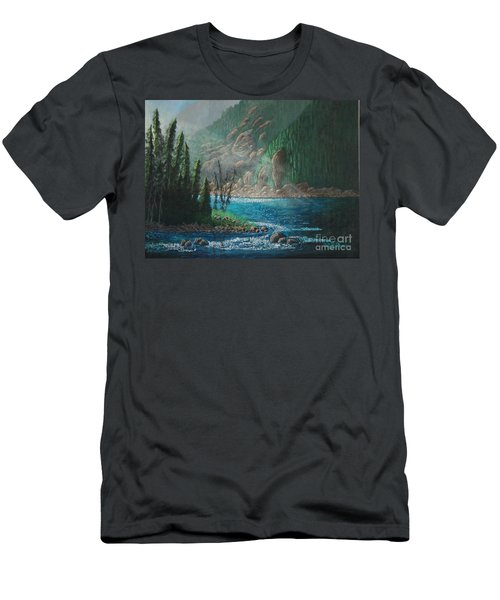 Turquoise River Men's T-Shirt (Athletic Fit)