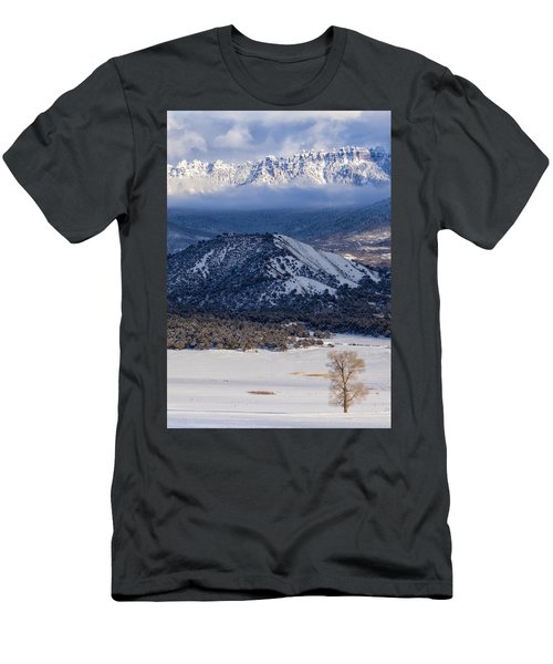 Turret Ridge In Winter Men's T-Shirt (Athletic Fit)