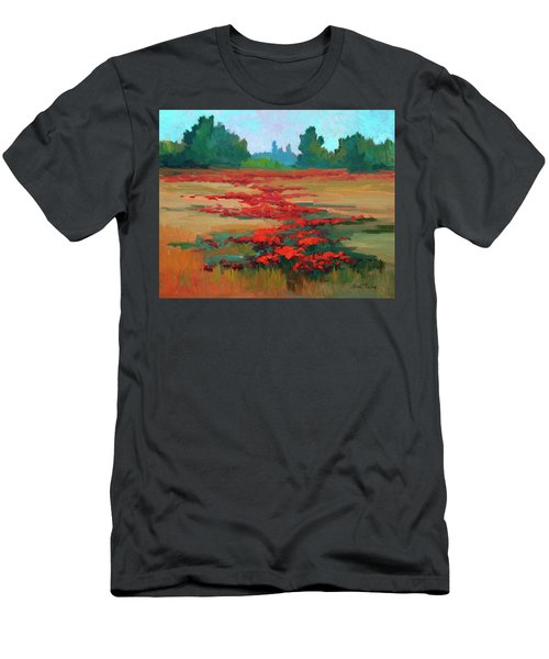 Tuscany Poppy Field Men's T-Shirt (Athletic Fit)