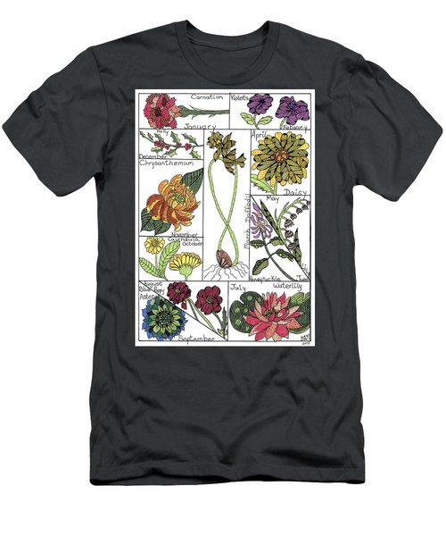 Twelve Month Flower Box Men's T-Shirt (Athletic Fit)