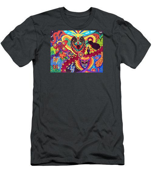 Men's T-Shirt (Slim Fit) featuring the painting Raven's Watch by Marina Petro