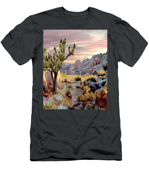 Twilight At Joshua   Vert. Men's T-Shirt (Athletic Fit)