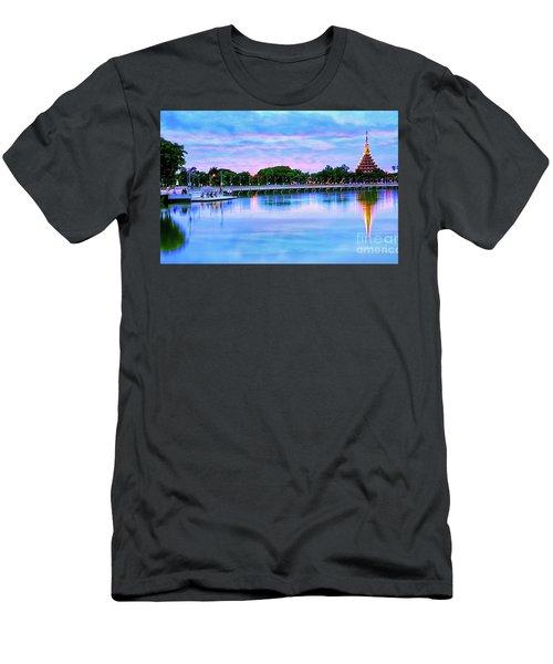 Twilight City Lake View Men's T-Shirt (Athletic Fit)