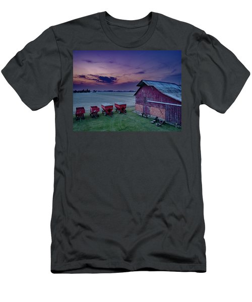 Twilight On The Farm Men's T-Shirt (Athletic Fit)