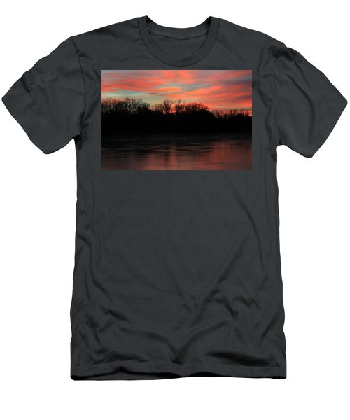 Men's T-Shirt (Slim Fit) featuring the photograph Twilight On The River by Chris Berry