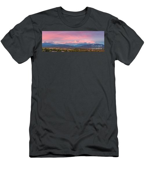 Twilight Panorama Of Sangre De Cristo Mountains And Santa Fe - New Mexico Land Of Enchantment Men's T-Shirt (Athletic Fit)