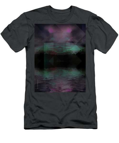 Men's T-Shirt (Slim Fit) featuring the digital art Twilight Zone by Mimulux patricia no No