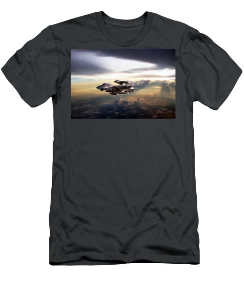 Men's T-Shirt (Slim Fit) featuring the digital art Twilight's Last Gleaming by Peter Chilelli