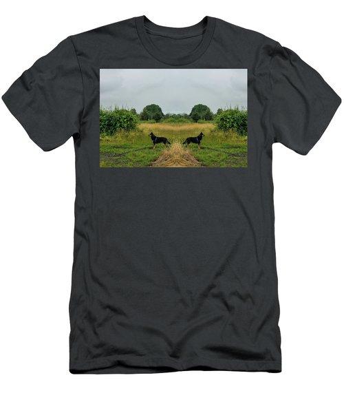 Twin Guards Men's T-Shirt (Athletic Fit)