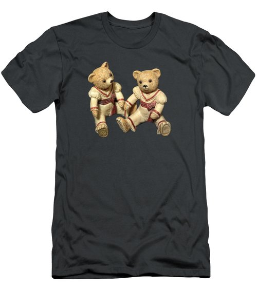 Twin Hagara Bears Men's T-Shirt (Slim Fit) by Linda Phelps