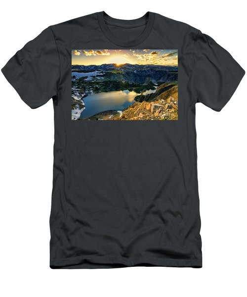Twin Lakes Sunset Men's T-Shirt (Athletic Fit)