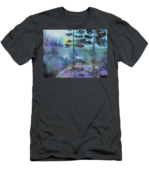 Men's T-Shirt (Athletic Fit) featuring the photograph Twin Pines by Claire Bull