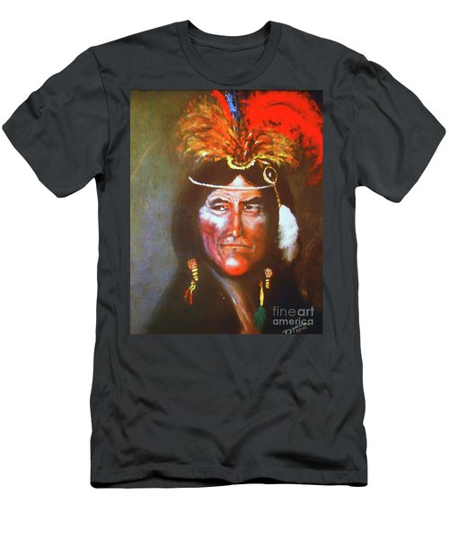 Men's T-Shirt (Slim Fit) featuring the painting Two Bears by Donna Dixon