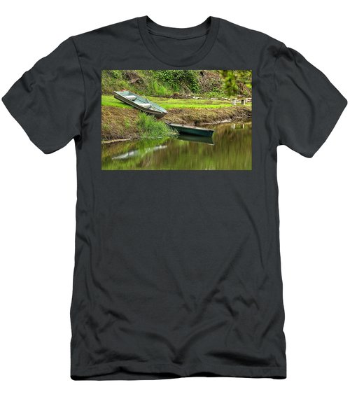 Two Boats And A Bench 1024 Men's T-Shirt (Athletic Fit)