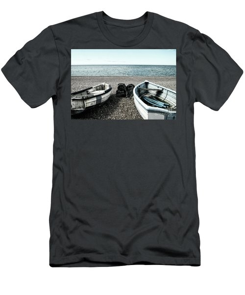 Two Boats On Seaford Beach Men's T-Shirt (Athletic Fit)