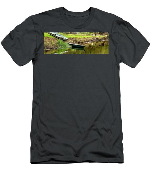 Two Boats Reflection 1024 Men's T-Shirt (Athletic Fit)