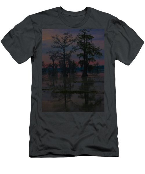 Two Cypress At Dawn Men's T-Shirt (Slim Fit) by Kimo Fernandez