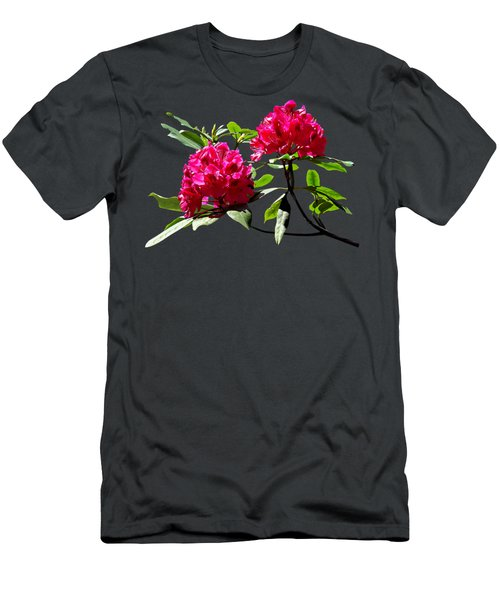 Two Dark Red Rhododendrons Men's T-Shirt (Athletic Fit)