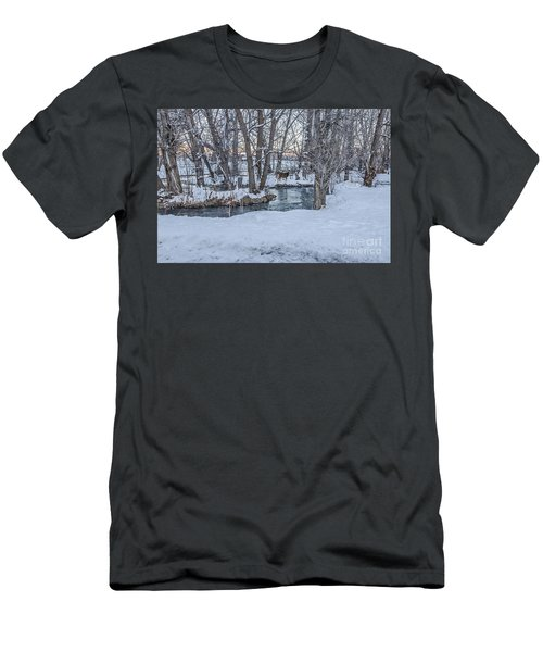 Men's T-Shirt (Athletic Fit) featuring the photograph Two Deer At Sunset by Sue Smith