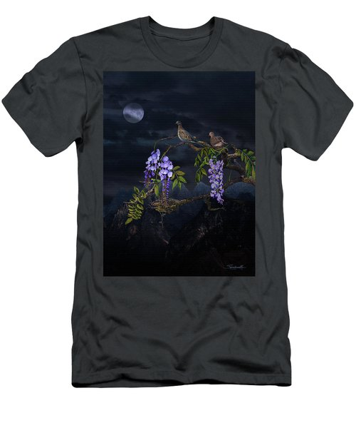 Mourning Doves In Moonlight Men's T-Shirt (Athletic Fit)