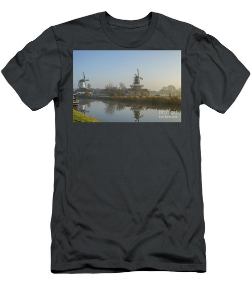 Two Dutch Windmills In The Fog Men's T-Shirt (Athletic Fit)